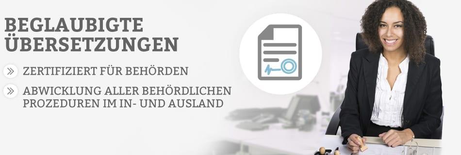 Beglaubigte Übersetzungen online bestellen