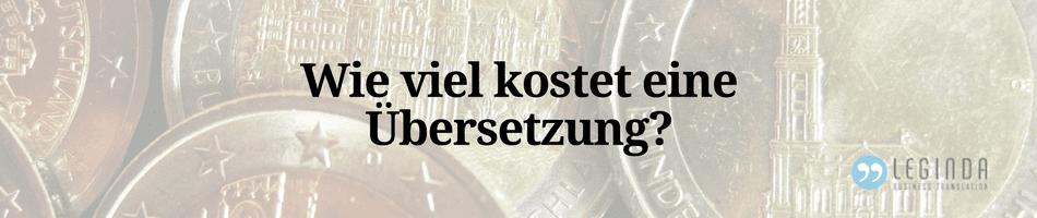 Preisgestaltung Übersetzung