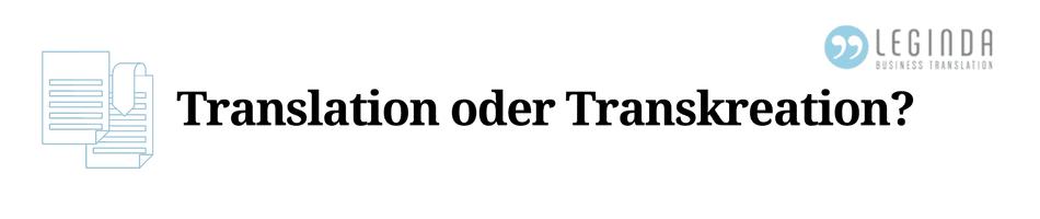 Transkreation Beitrag