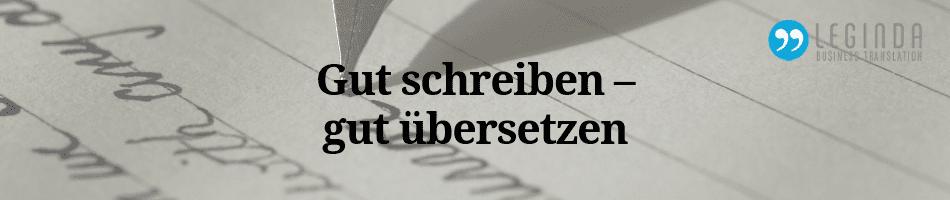 gut schreiben, gut übersetzen Blog