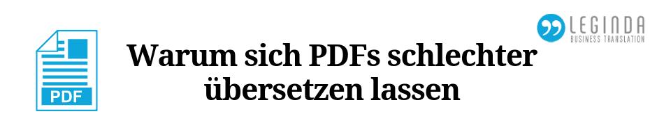 PDFs übersetzen Blog