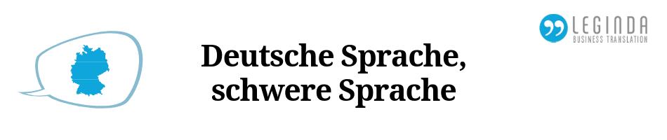 Deutsche Sprache, schwere Sprache Beitrag